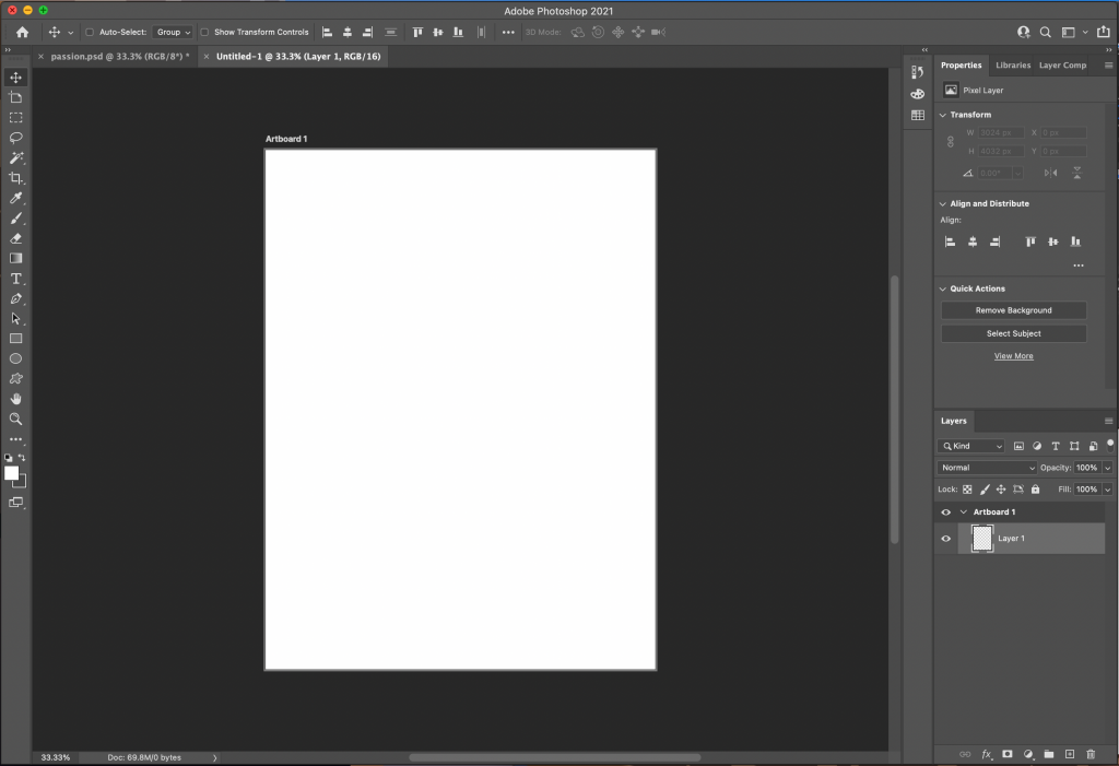 once create a blank document will appear and you can begin incorporating the technique from the article on how to create an NFT