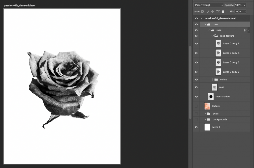 how to create an NFT converting a rose to black and white